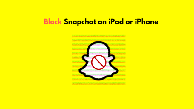 how to block snapchat on iPhone